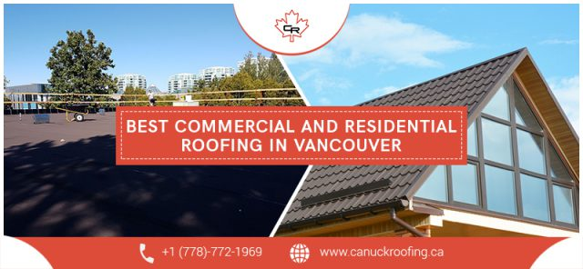 image of commercial and residential roofing project
