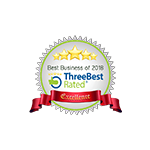 we are five stars rated by Three Best Rated