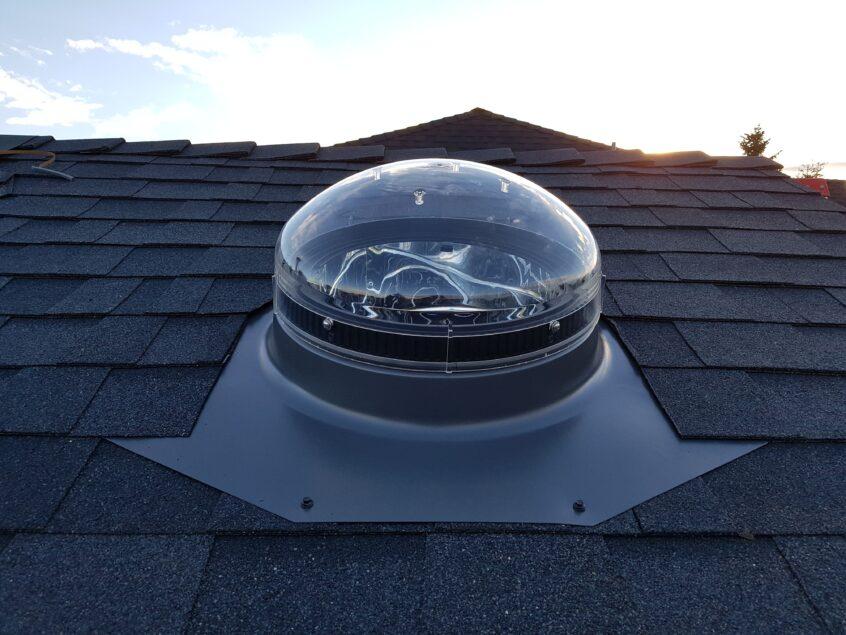 visual image of sun tunnel skylight